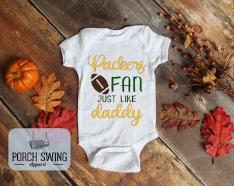 Green and Gold Bodysuit  Green Bay Baby Gift   Green Bay Baby   Green and Gold   Aaron Rodgers  The Busy Bee