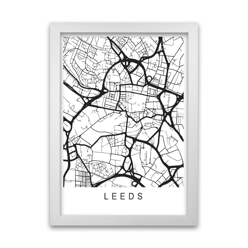 Leeds Line Map Print