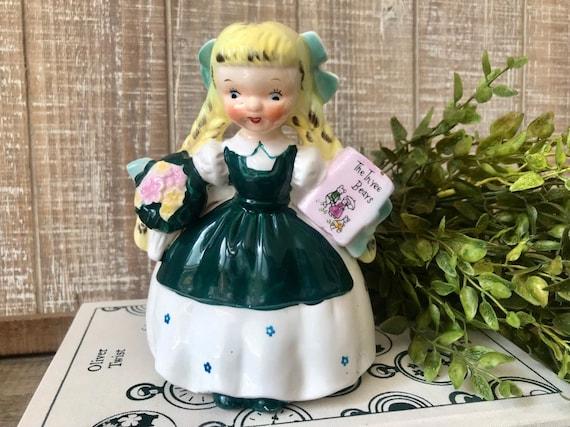 display piece Goldilocks and the 3 bears Goldilocks figurine collectible Napco girl