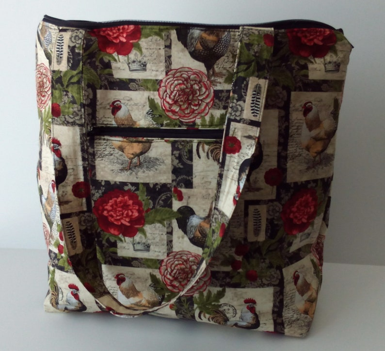 Traditional Red Rose Tote Bag