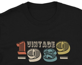 30th Birthday 1989 T-Shirt, Vintage 1989 Shirt, 30th Birthday Shirt, 30th Birthday Gift Classic 1989 Vintage Men Women 30 Years T-Shirt