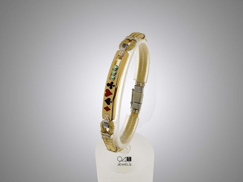 Mens Cuff Bracelet,Custom Bracelet Men,Bar Bracelet with stone Italian bracelet