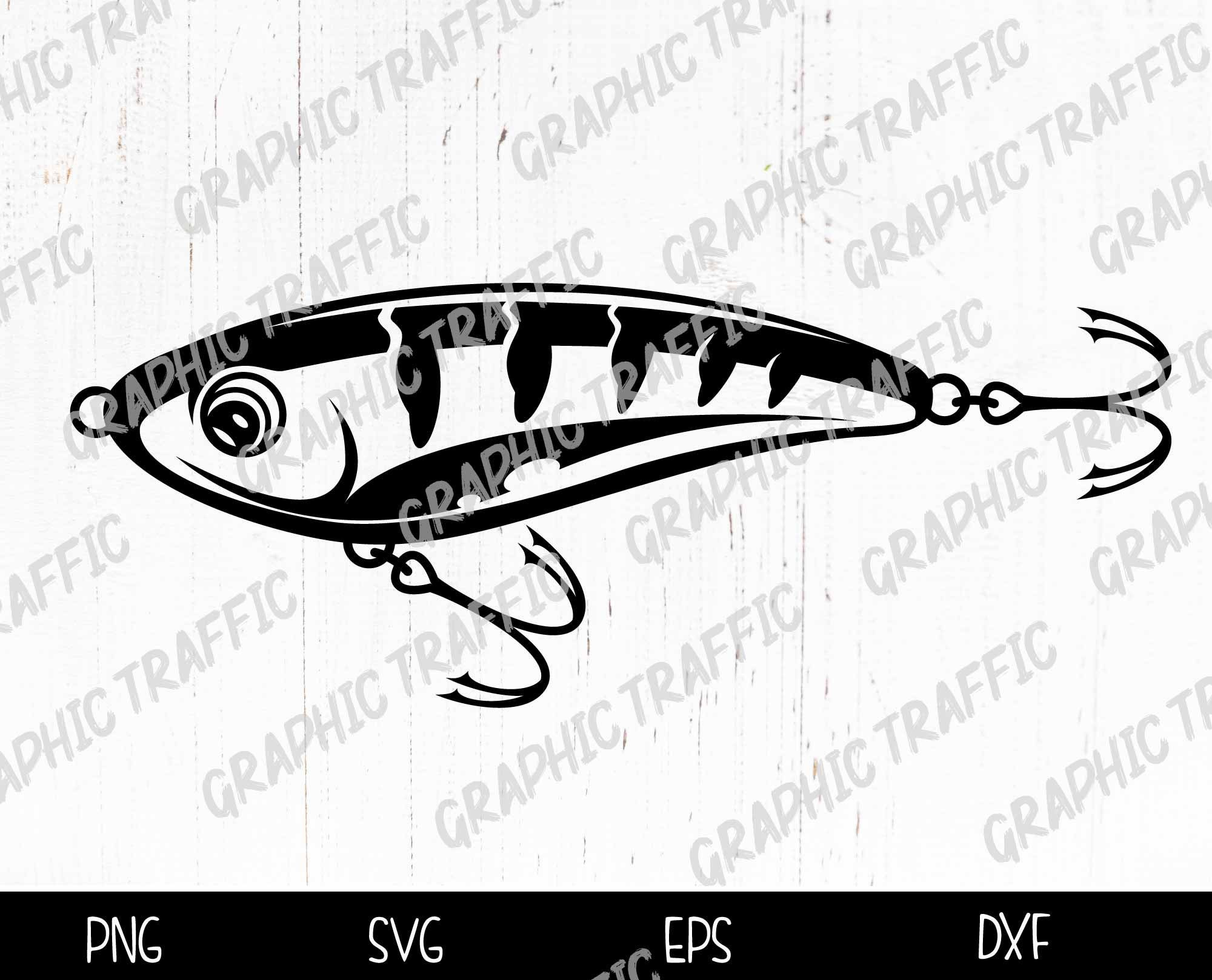 Download Fishing Lure Svg Files For Cricut Fish Cut File Fish Etsy