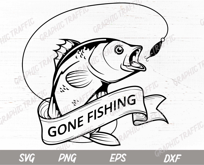 Fishing Svg Files For Cricut Fish Silhouette Cut File Etsy