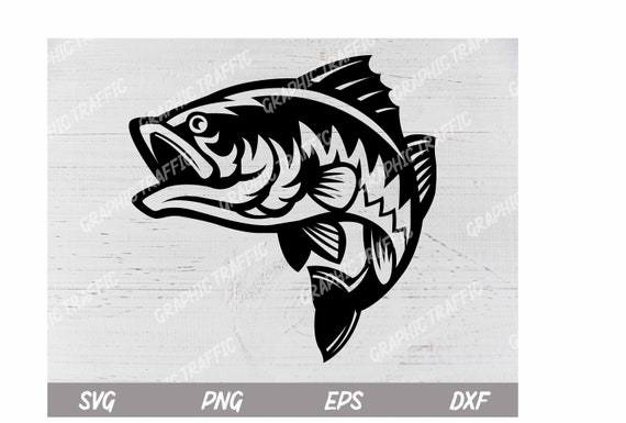 Download Bass Fish Svg Svg Files For Cricut Fishing Svg Instant Etsy