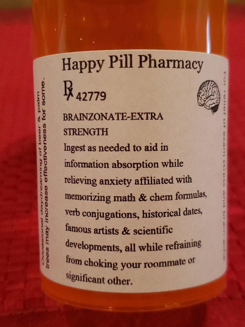 Student anti-stress Happy Pill bottle