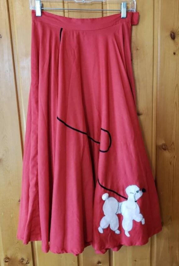 Vintage 50s Handmade Poodle Skirt