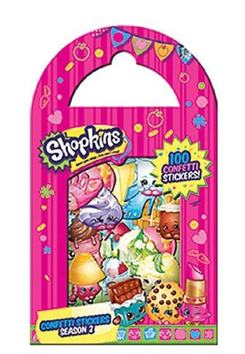 100 Pictures Cartoon Characters shopkins cartoon characters confetti stickers, pack of 100 stickers -  season 2