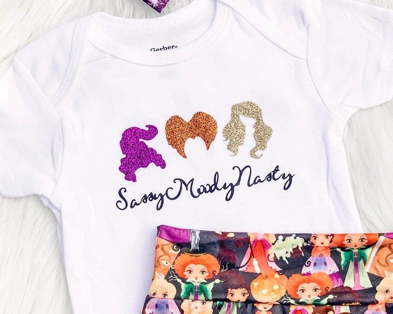 Baby Shower Gift Witches Bodysuit Girls Halloween Shirt Hocus Pocus Baby Bodysuit Fall Baby Bodysuit