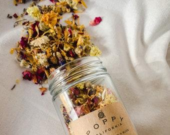 Bath Tea, Tub Tea, Flower Bath, Bath Tea Soak, Bath Soak with Flowers, Bath Flowers, Botanical Facial Steam, Bath Gift, Herbal Bath Tea
