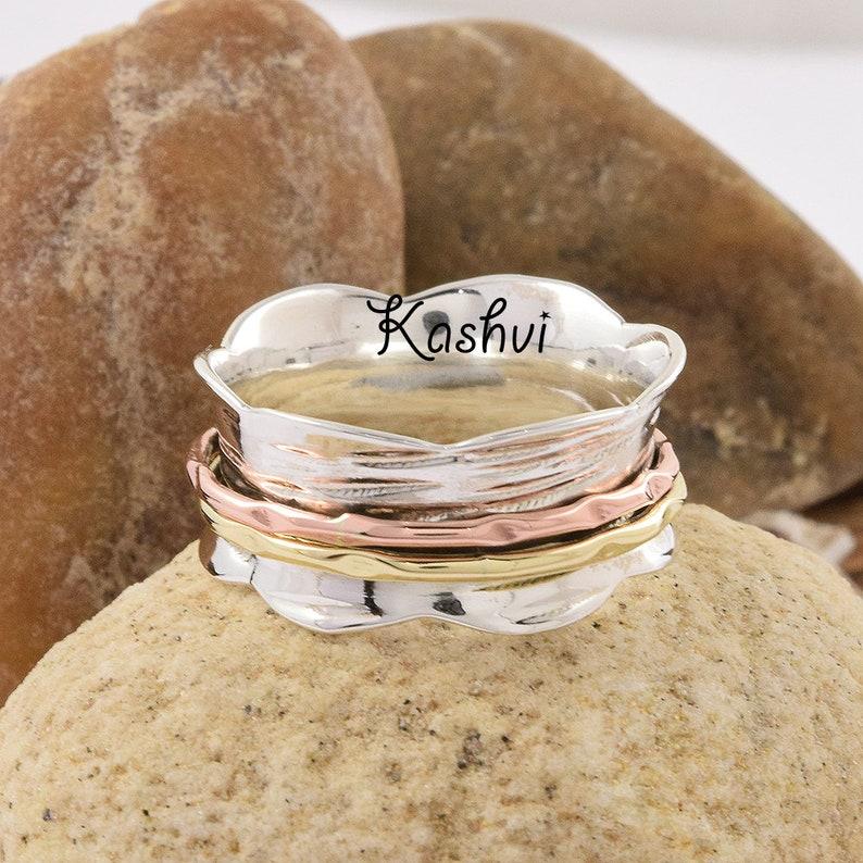 Handmade Ring Boho Ring Spinner Ring Meditation Ring Promise Ring Anxiety Ring Gift For Her Ring 925 Silver Ring Women Ring