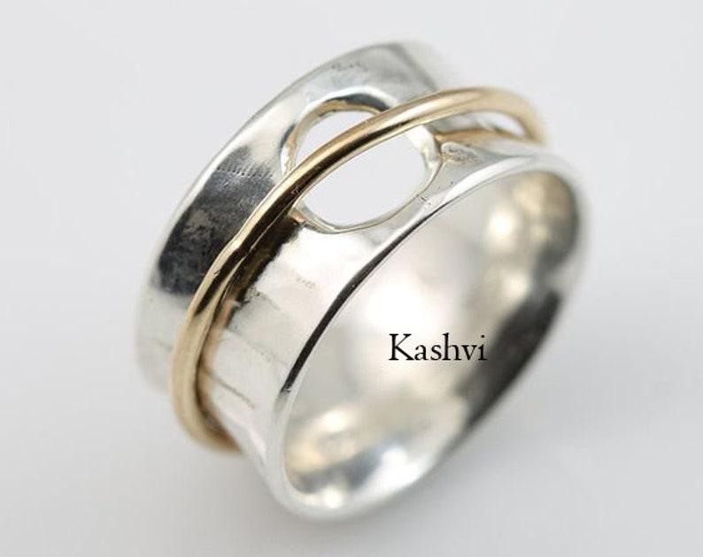 Women Ring Fidget Ring Worry Ring Spinner Ring Meditation Ring Anxiety Ring 925 Silver Ring Promise Ring Gift For Her Boho Ring