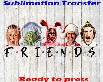 Friends -ready to press sublimation transfer/ full color transfer/heat transfer/football design/football season