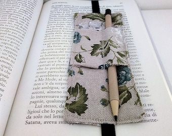 """Bookmark """"Wrapping"""" Bloom (with blue and white flowers)"""