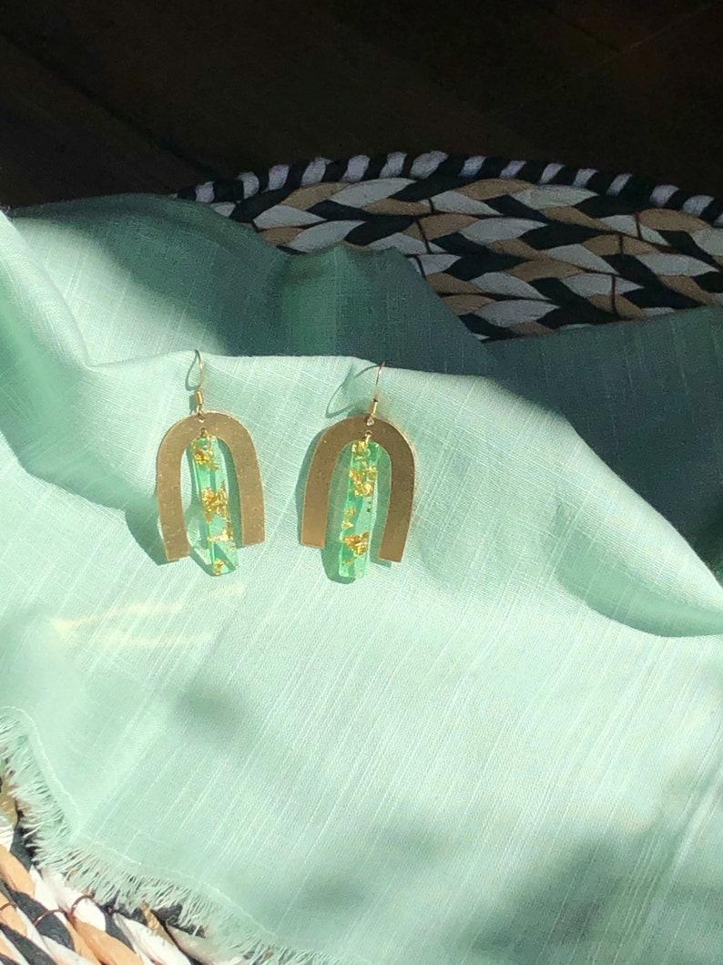Green Day Earrings