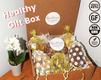 Keto Paleo Gluten Free Gift Box - Keto Paleo Sugar Free Desserts, Cookies, Muffins - Healthy Gift Box, Keto Gift, Gift for Health Nut