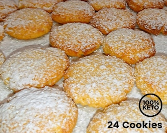 Keto Paleo Lemon Cookies - Low Carb, Grain Free, Gluten Free, Sugar Free, Diabetic Friendly, Healthy Cookies, Gift for Health Nut, Keto Gift