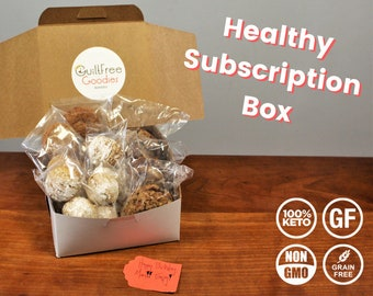 Keto Paleo Subscription Box - Gluten and Sugar Free Cookies, Muffins, Snacks - Healthy Gift Box, Gift for Health Nut, Keto Gift