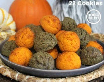 Keto Paleo Pumpkin Spice Halloween Cookies - Sugar Free Halloween Cookies, Gluten Free, Low Carb, Grain Free, Gluten Free, Keto Halloween
