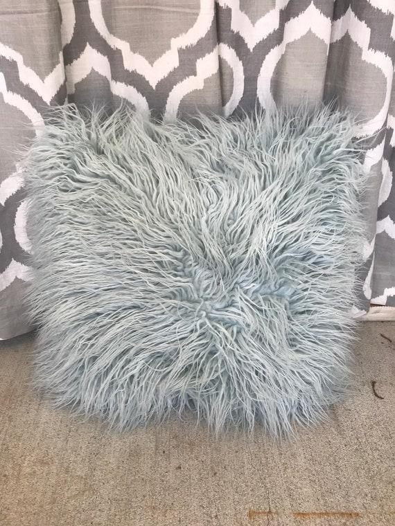 Faux Fur Decorative Pillow.Faux Fur Decorative Pillow