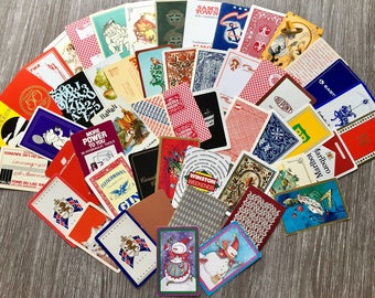Rare Full Set 32 Cards plus 1 Joker Vintage 1950s Pin-up Girl Playing Cards with Box Ladies Lady Playingcards in excellent condition