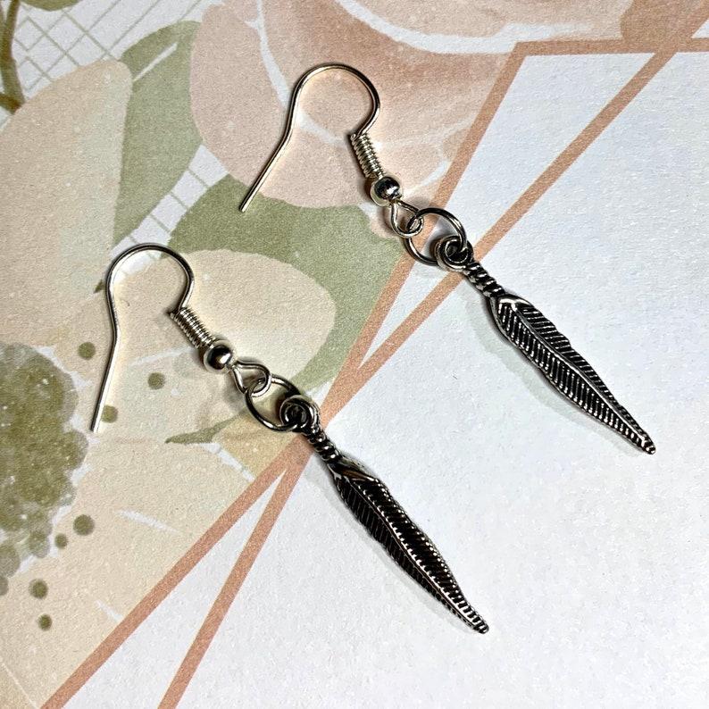 Wing Earrings great stocking stuffer metal wings