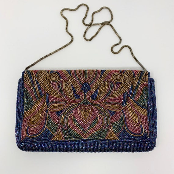 Vintage 1980s Beaded Evening Bag