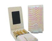 Mother of Pearl Lipstick Essential oil Roller bottle Pouches- Flip Lipsense Cases Available in many Designs