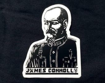 James Connolly Irish Republican socialist die cut vinyl sticker