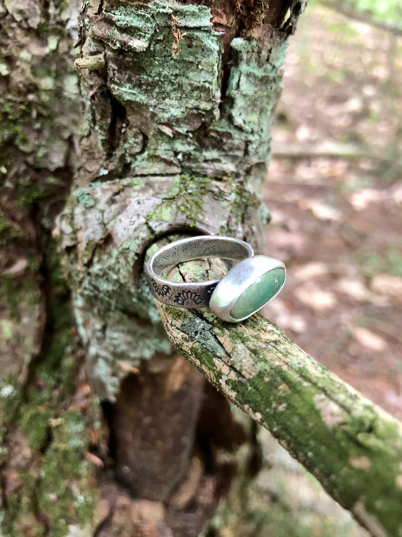 8.5 Royston Turquoise Stamped Ring