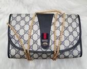 Authentic Vintage Gucci Crossbody Clutch Bag