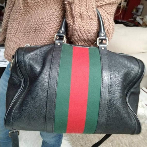 Authentic Vintage Gucci Boston Satchel