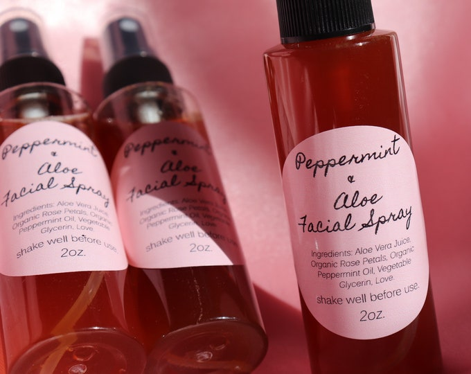 Featured listing image: JUST RESTOCKED! Peppermint + Aloe Rose Water Facial Spray