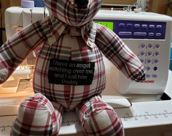 Memory bears made with loved ones clothing