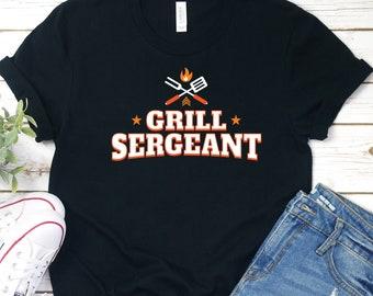 ddf7b775e Grill Sergeant Shirt, Dad Grilling Shirt, Grill Master Shirt, Mens Cooking  Shirt