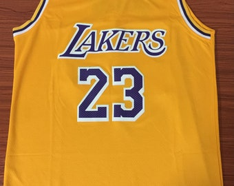 ba5ebee65 Men s Los Angeles Lakers  23 LeBron James Yellow Stitched Basketball Jersey