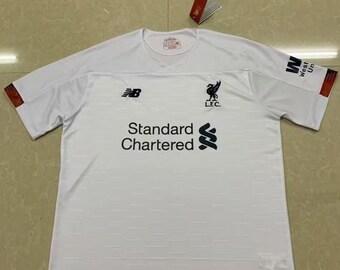 b697a1f5cec Liverpool 2019 20 Away Custom Men White Soccer Jersey Football Shirt