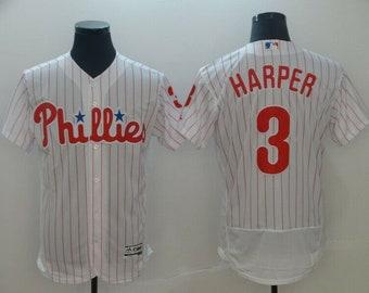638e0c866 Men s Bryce Harper  3 Baseball Jersey Philadelphia Phillies White Cool Base