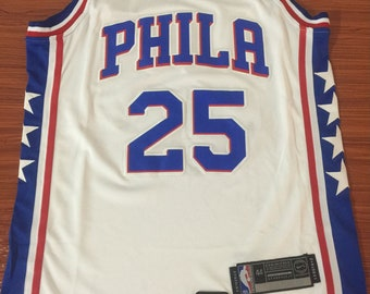 a64a995ffc6d Men s Philadelphia 76ers  25 Ben Simmons White Stitched Basketball Jersey