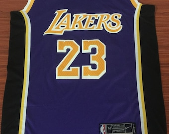 9a6273c15 Men s Los Angeles Lakers  23 LeBron James Purple Stitched Basketball Jersey