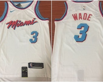 d628f2bb5b2 Men s Miami Heat  3 Dwayne Wade Swingman Basketball Jersey White