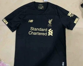 e6f4d6db5 Liverpool 2019 20 Custom Men Black Soccer Jersey Football Shirt