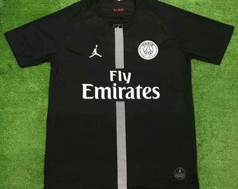 f60a38c7f9c4f Paris Saint Germain Psg 2018 19 Black Custom Men Soccer Jersey Football  Shirt