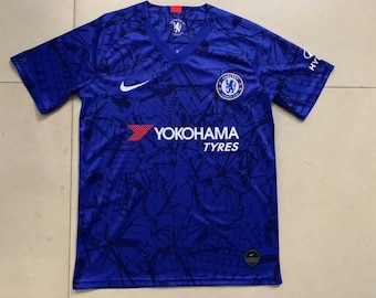 22cf53f37 Chelsea 2019 20 Home Custom Men Blue Soccer Jersey Football Shirt