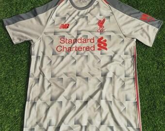 90a53f418 Liverpool 2018 19 Third Custom Men Soccer Jersey Football Shirt