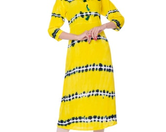 1091b22e5be Tie dye print soft cotton fabric kurtis for summer
