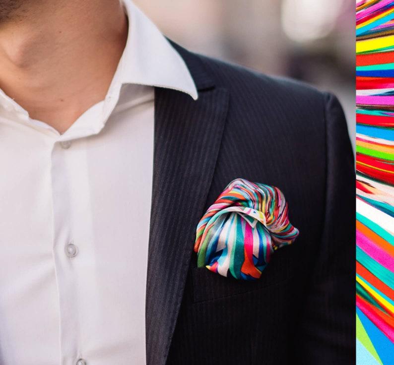 New Men Italian square Satin Wedding Event Party pocket Hanky Handkerchief Gift