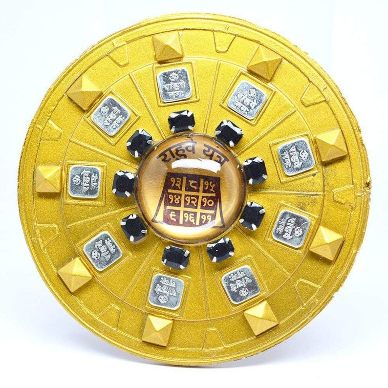 Rahu dosh nivaran Yantra Brass Gold Plated Brass Yantra rahu yantra