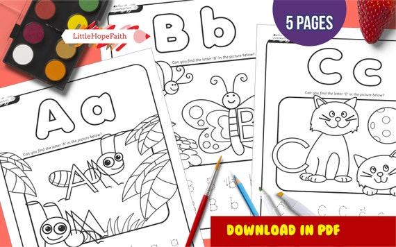 Alphabet Cut & Paste - ABC Activity Sheets - Letter Matching A-B-C ... | 356x570