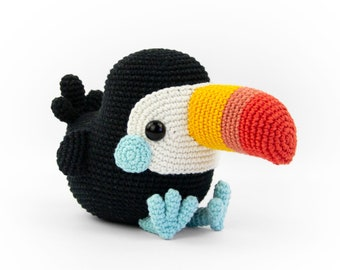 Toco the Toucan | Amigurumi Crochet PDF pattern | written instruction and step by step photos